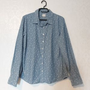J Crew The Perfect Shirt Top floral button down